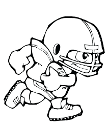 Football Player Coloring Pages At Getdrawingscom Free For