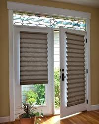 side door window blinds roman shade on french door with stained glass home designer pro 2019
