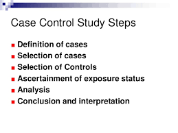 case control studies  control study proceed from effect to the cause 4