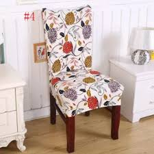 chair covers for home. New Floral Print Chair Covers Home Dining Multifunctional Spandex Seat Cover 4# - For M