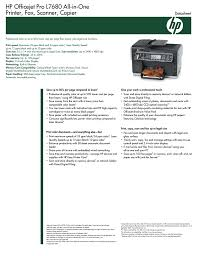 Hp Officejet Pro L7680 All In One Printer Fax Scanner