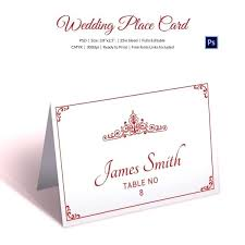 Fold Over Place Cards Folded Place Card Template Word Ms Combined With For Wedding Cards