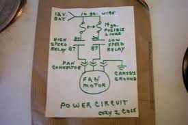 speed ford taurus fan wiring dia and part list gen i ii the two diagrams above show how to build and wire an auto relay switched 2 speed ford taurus fan parts needed 10 guage wire for the power circuit