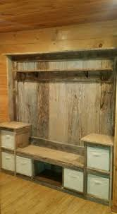 Cupboards Made From Pallets Entryway Coat Rack And Bench Made From Pallets Pallet Projects