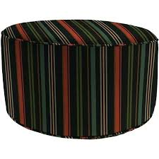 outdoor ottomans get ations a round outdoor stripe pouf ottoman stripe onyx