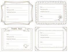 Blank Thank You Notes 23 Best Printable Thank You Notes Images Printable Thank