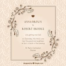 Free Wedding Invitation Card Wedding Invitation Vectors Photos And