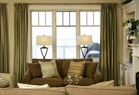 Family room curtains with drop dead style for family room design and  decorating ideas 1