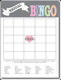 Wedding Bingo Words Printable Bridal Shower Bingo Card Bingo Card 450x582