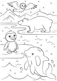 Winter Animals Coloring Page Free Printable Coloring Pages