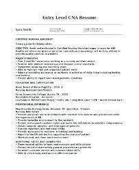 Cna Resume Examples Amazing Entry Level Cna Resume Sample Here Are Sample Resume Template Resume
