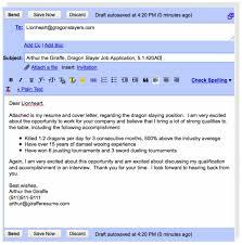 Email Sample When Sending Resume Resume Email Sample sraddme 2