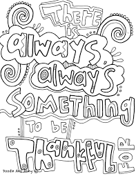 Coloring Thankful Quotes Doodle Art Alley