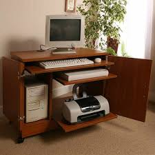 computer desk compact with printer shelf latest