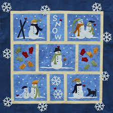 cute snowman quilt | Quilts | Pinterest | Snowman, Snowflake quilt ... & Snow Wool Applique Quilt pattern, x at Cabin Creek Designs Adamdwight.com