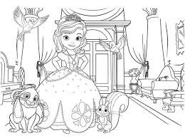Small Picture Sofia The First Picture Coloring Page Coloring Kids