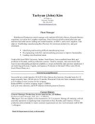 Plant Manager Resume Nmdnconference Com Example Resume And Cover