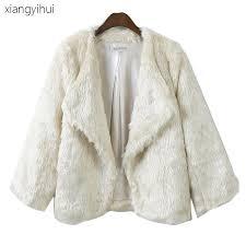 2018 short loose pattern winter mink coats women 2017 autumn warm white faux fur coat elegant thick army green fake fur jacket ct071 from chenhanyang163