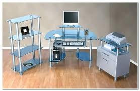blue computer desk glass staples office desks l navy