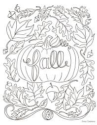 Autumn Day Mini Book Coloring Page 130 Best Autumn Images On