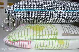 diy zippered pillow covers just remove and wash when the kids goober on them