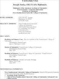 American Curriculum Vitae Format American Cv Template Naomijorge Co