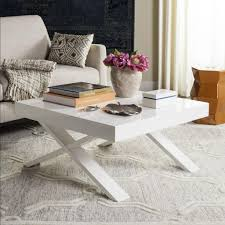 White Cross Legged Modern Coffee Tables