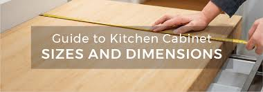guide to kitchen cabinet sizes and