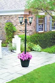 Solar Lamp Post Planter Lawn Garden Decorations Solar Lamp