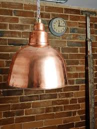 large hand crafted copper pendant light