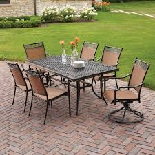 hampton bay niles park 7 piece sling patio dining set