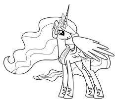 78a2354e922012d77476d6340c72b5b0 princess celestia pony princesse luna coloring page for girls, printable paper projets on princess celestia coloring