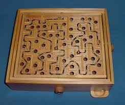 Wooden Maze Games Solid Wood Labyrinth maze game Neighborhood Values Toys Games 13