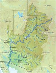 Tucson Elevation Chart Map Of The Colorado River Watershed Colorado River