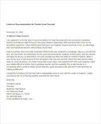 Sample Letter Of Recommendation For A Teacher Position Sample Letter Of Recommendation For Substitute Teacher Position