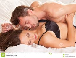 Men And Women In Bedroom Young Man And Woman In Bed Royalty Free Stock Photography Image
