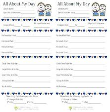 Nanny Diary Template Arianet Co