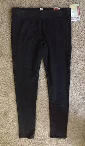 Mossimo Supply Co Ebony New Garment Dyed Leggings Size 14 L 34