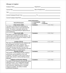Simple Employee Review Employee Review Simple Employee Review Form