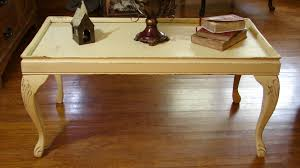 small distressed coffee table candle wax and chalk paint method dsc