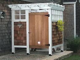 diy outdoor shower 1 homemade head drainage enclosure ideas diy outdoor shower homemade ideas head enclosure