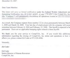 Letter Of Recommendation Layoff Kadil Carpentersdaughter Co