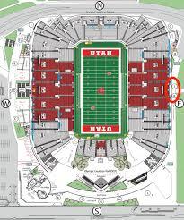 Rice Eccles Stadium Detailed Seating Chart