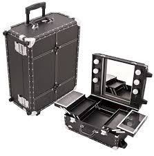rolling vanity cosmetic case this case provides all that is needed for organization