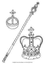 Small Picture Royal Regalia or Crown Jewels Colouring Page