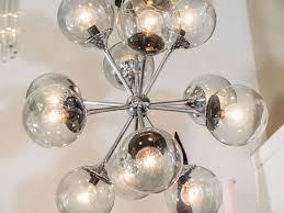 immaculate 12 arm chrome and smoke glass globe sputnik light fixture donald by lumunier bulb lighting
