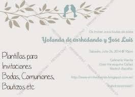 invitaciones de boda para imprimir plantillas de invitaciones de bodas y otros eventos