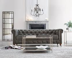 grey velvet tufted sofa. Beautiful Velvet Our Favorite Gordon Tufted Sofa Now Comes In Grey Velvet Just Time  For Fall HomeDecoratorscom And Grey Velvet