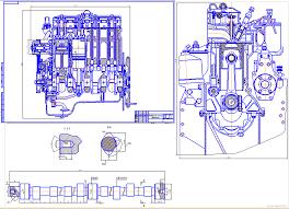 Курсовые и дипломные работы автомобили расчет устройство  Курсовая работа Расчет дизельного двигателя