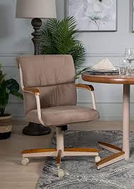 Casual <b>Dining</b> Cushion Swivel and Tilt <b>Rolling Caster Chair</b>